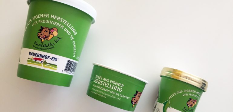 Haselstaller Hof Eisbecher im neuen Design